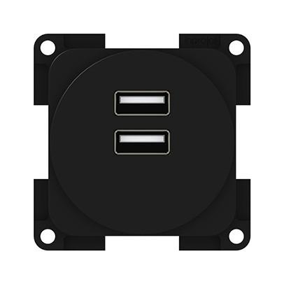 2-fach USB Ladesteckdose 230V