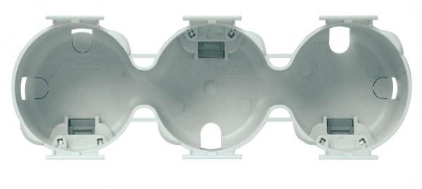 Berührschutzdose 3-fach Ø 50 mm