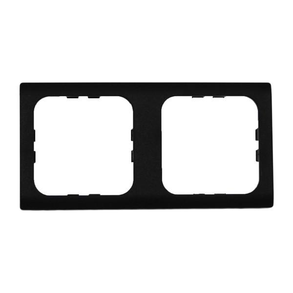Abdeckrahmen 2-fach schwarz System 30000